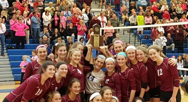 Assumption High School Girls Varsity Volleyball beat Sacred Heart (Region Championship) 3-0