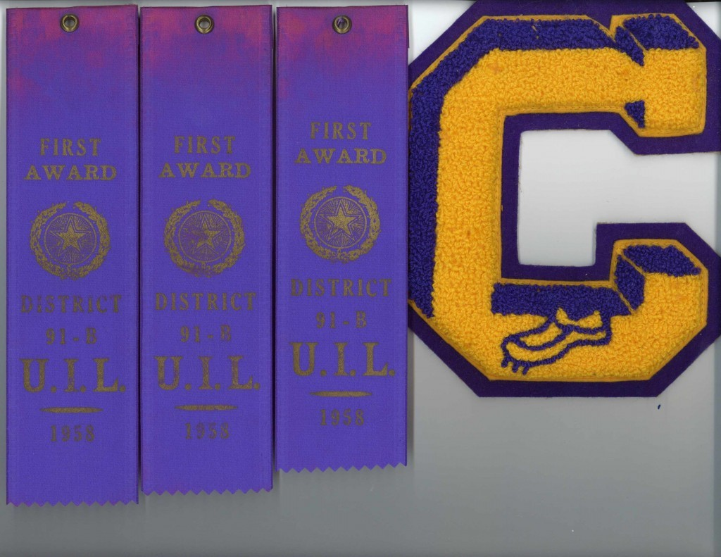 CHS Letter and UIL ribbons
