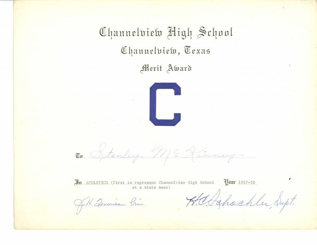 McKinney Certificate
