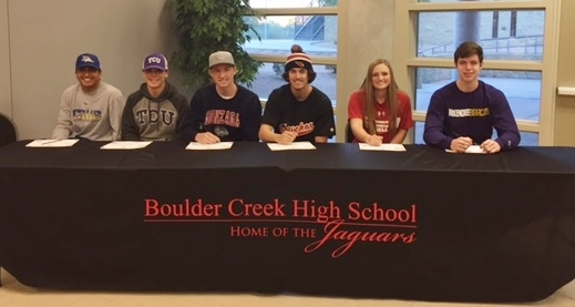 Congratulations to our Early Signing Senior Athletes!!