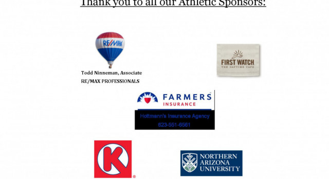 Thank you to our Athletic Sponsors!