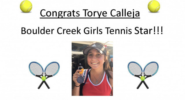 BCHS Girls Tennis Star – Torye Calleja!