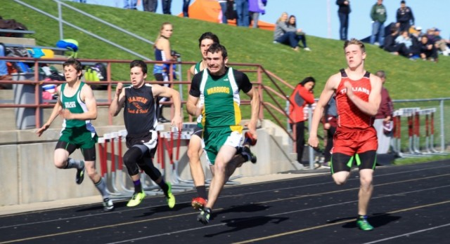 HS Track in Home Stretch