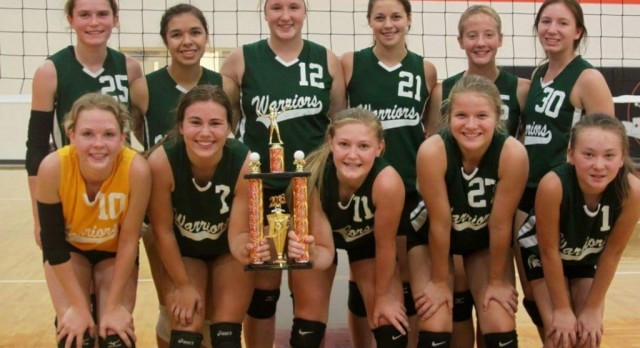 Varsity Volleyball Team takes the Manton Invitational