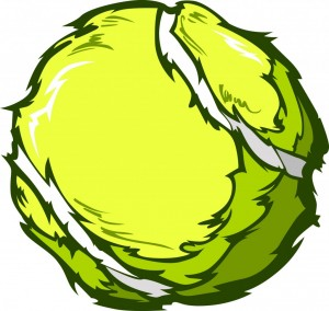 Tennis Ball Vector Image Template