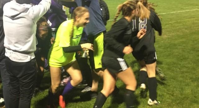 Soccer girls take must win game vs. Dakota Ridge!