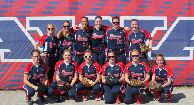Lady Braves win home opener on new field