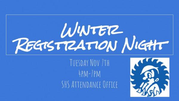 Winter Registration Night