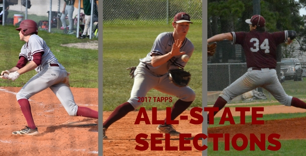 Three Mustangs Earn TAPPS All-State Honors in Baseball