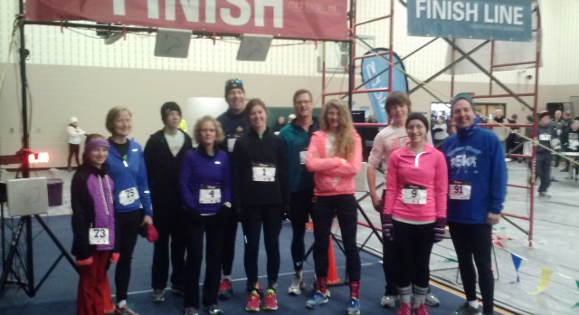 Winter Blast Runners Brave Cold Temps