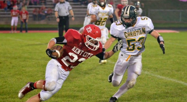 Hard Work Makes VanderLaan a Force on the Field for Calvin Christian Football