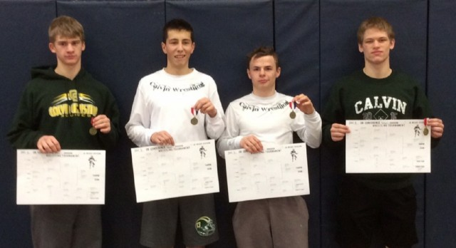 Calvin Wrestling Crowns Four Conference Champs
