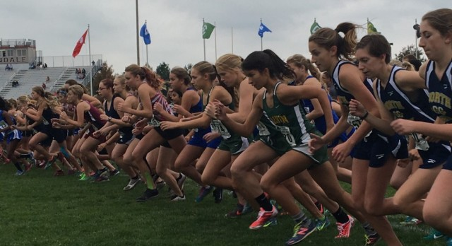 XC Girls Race to 5th Regional Title