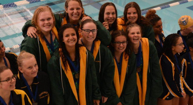 Girls Swimming Takes On The Mason Invitational With Great Success
