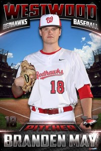 #18 Branden May - Pitcher