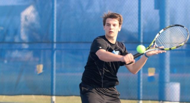 Tennis team gets first win!