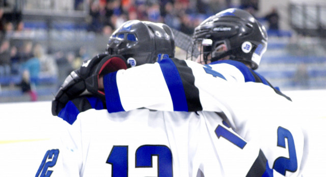 Boys hockey turns a corner with conference victories!