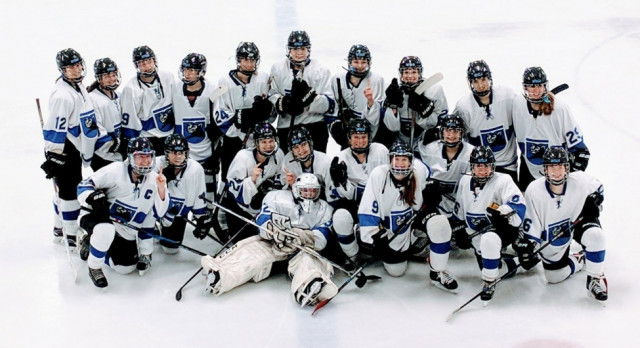 Girls hockey team is conference champs for first time in school history!