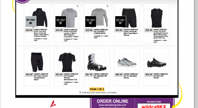 Football Releases Under Armour Team Store