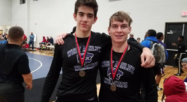 West Ashley High School Boys Varsity Wrestling finishes 2nd at Cardinal Newman Holiday Classic