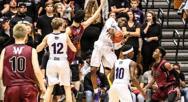 West Ashley High School Boys Varsity Basketball beat Wando High School 61-47