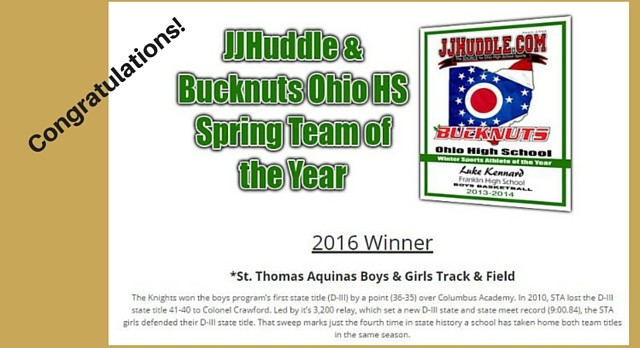 JJ Huddle Spring Team of the Year!