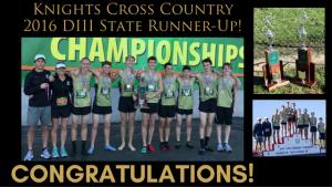 Boys XC State Runner-Up - 161105