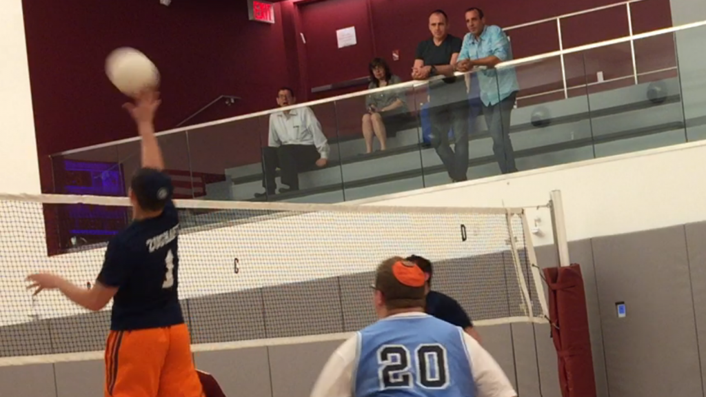 Jonny Zughaft takes an Esterlet set and puts it down for one of his 10 kills against Flatbush.