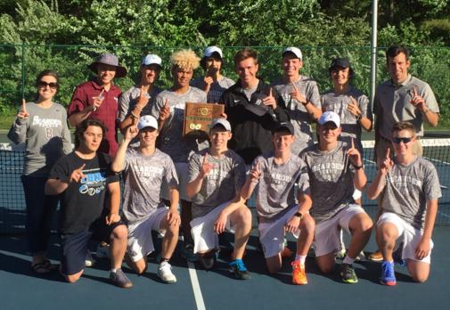 Boys tennis team wins district title
