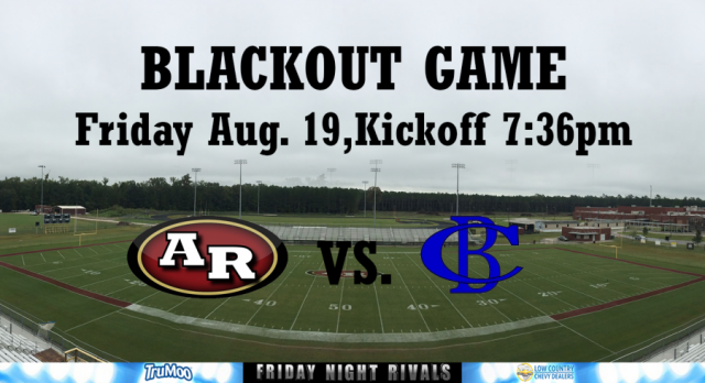 Black Out Game Friday vs. Cane Bay!