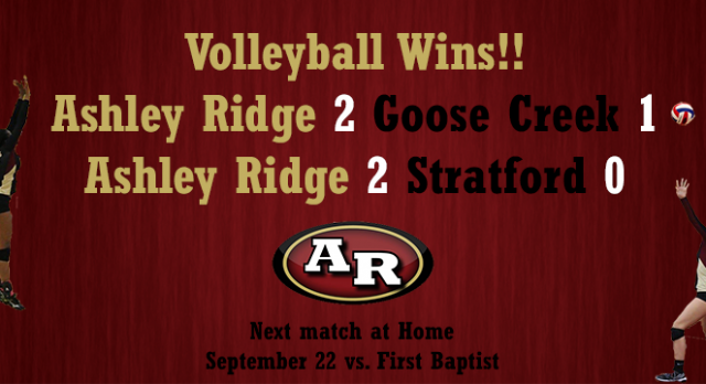 Volleyball Defeats Stratford and Goose Creek!
