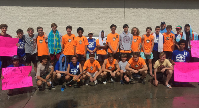 Men's Soccer Has Great Success at their Car Wash for a Cause