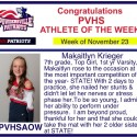 Fall Athletes of the Week