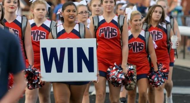 Varsity Spirit Cheerleaders take Crowd thru Two Overtimes to WIN!