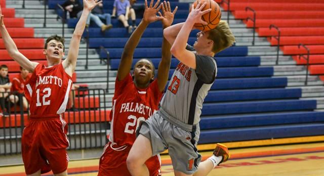 JV Boys Basketball Finishes Season 8-8, falls to Palmetto High School 47-39