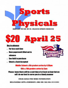 Sports Physical Flyer 2017
