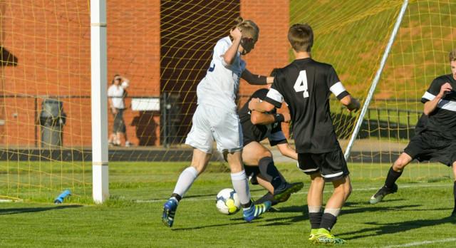 Powdersville High School Boys Varsity Soccer beat Pendleton High School 2-0