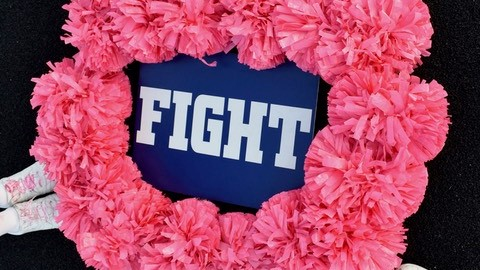 PVMS Spirit Cheer Encourages Everyone to Fight Against Breast Cancer