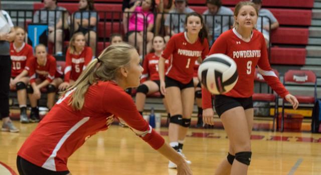 Powdersville High School Girls Junior Varsity Volleyball beat Palmetto High School 2-0