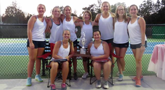 REGION CHAMPIONS! Powdersville High School Girls Varsity Tennis beat Emerald High School 7-0