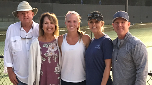 Pollard Plays Four Rounds in AAA Singles Tennis Tournament