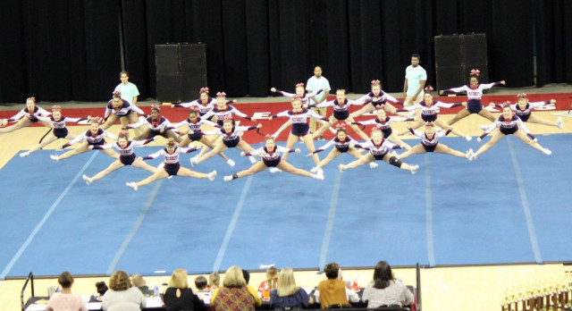 Powdersville Competitive Cheerleaders get fired up at Debbie Rogers Classic