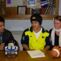 Drake Johnson Signs at U of M