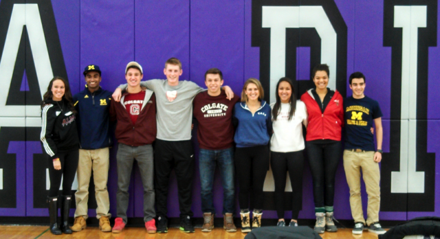 Congrats to the Pioneer Athletes Committing on Signing Day!