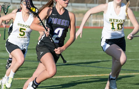 Mercedes Reyes' six goals lifts Ann Arbor Pioneer girls lacrosse team to 14-10 win against Birmingham United