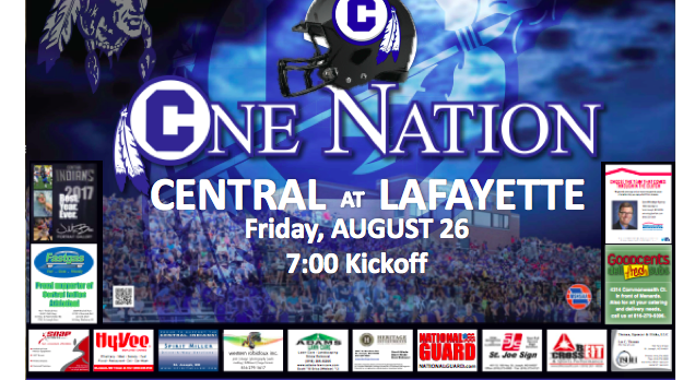 CENTRAL SET TO BATTLE LAFAYETTE