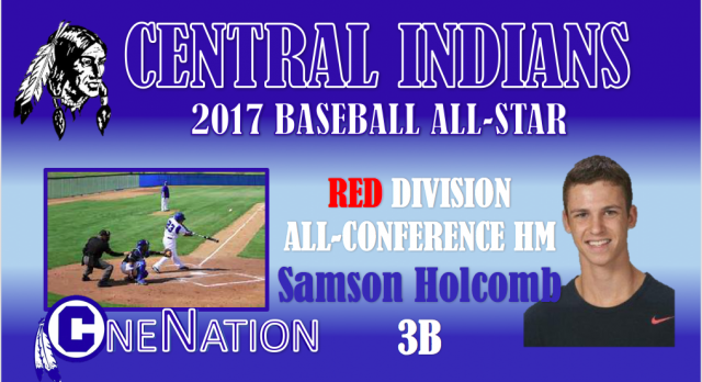 Holcomb Sixth Indian Named All-Conference