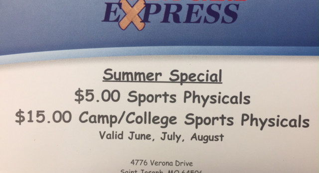 Sports Physical Summer Special