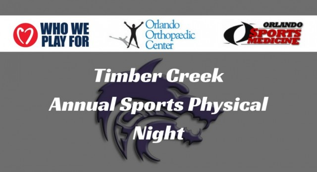 TC Annual Sports Physical Night Tentatively Set for Tuesday, May 30th