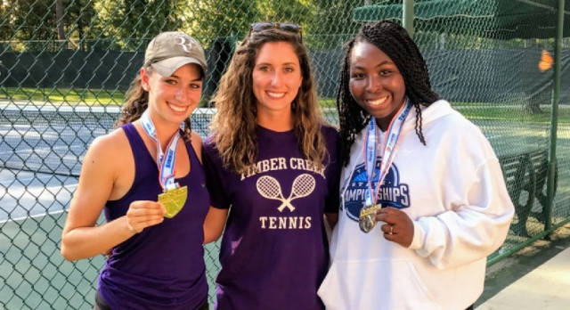 Alana Wolfberg and Candace Carmouche, State Champs in Doubles